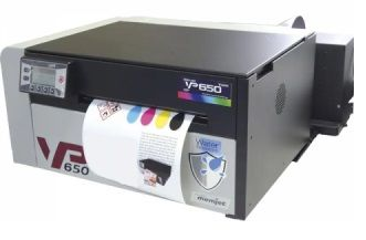 VP650 Color Label Printer On Demand Label Printing
