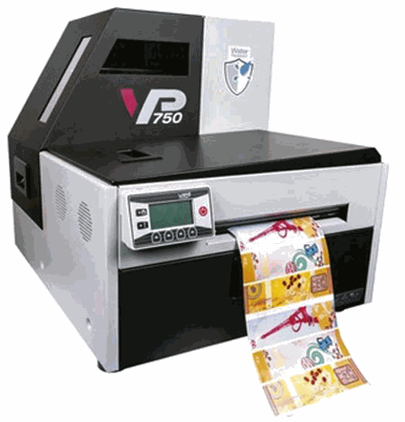 VP750 Color Label Printer On Demand Label Printing